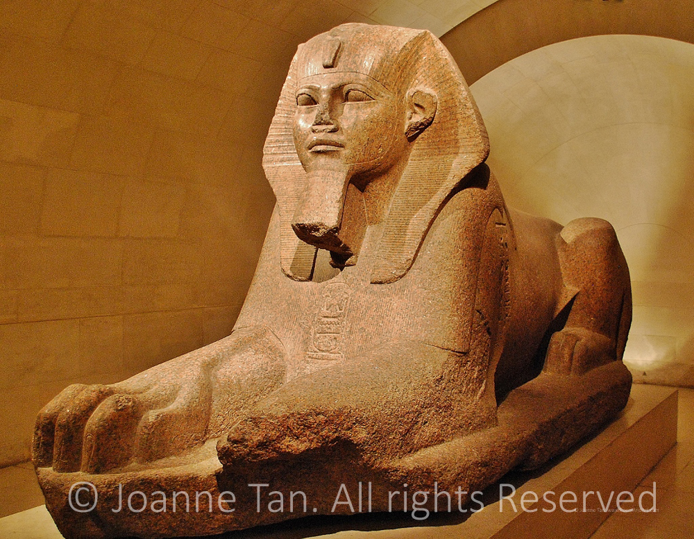 P-interior- statue of an Ancient EgyptianTomb Guard, Sphinx, full body