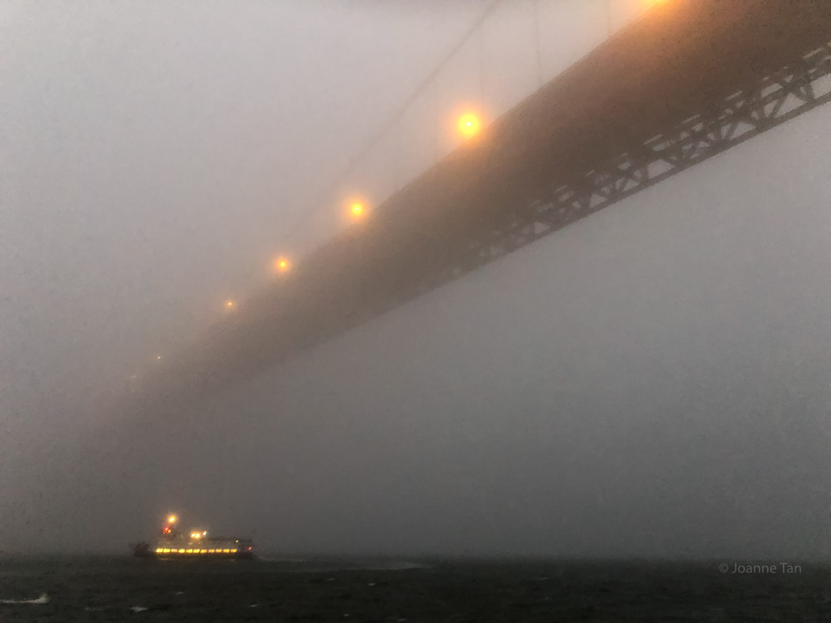 Golden Gate Bridge & boat in Mist 1_by Joanne Tan_Iphone10_-2417